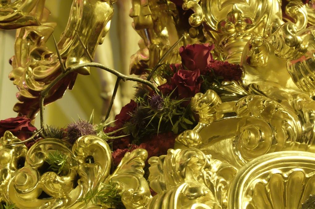 Cardo clavel y rosas