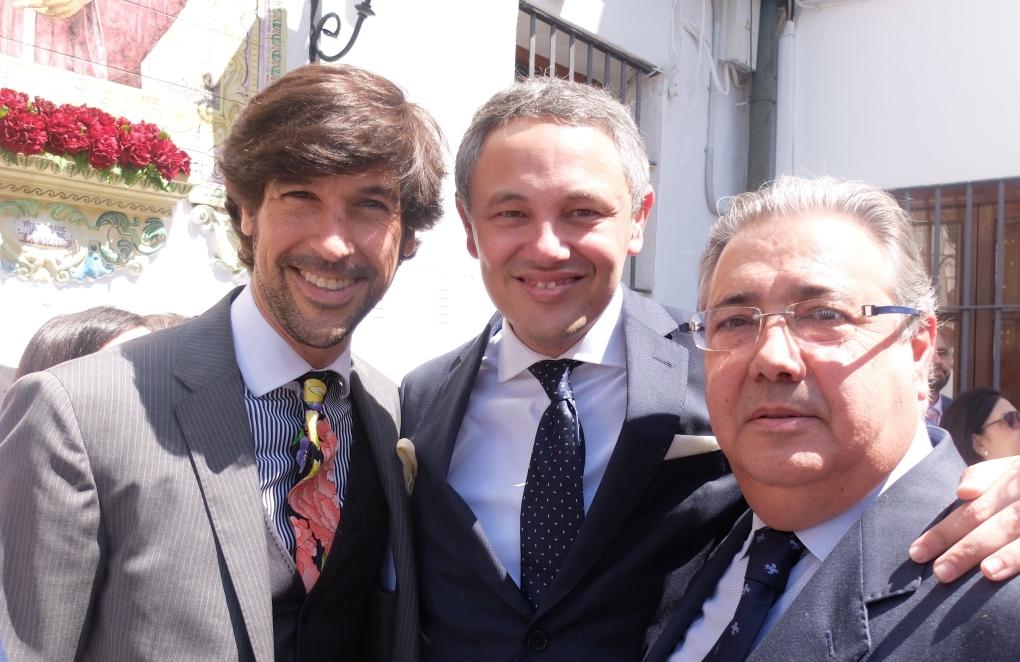 Manuel Lombo,Alberto García Reyes y Juan Ignacio Zoido