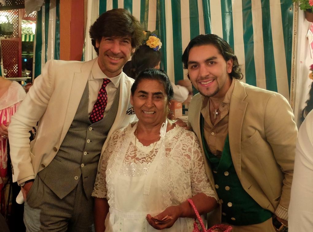 Con Dolores y Polito