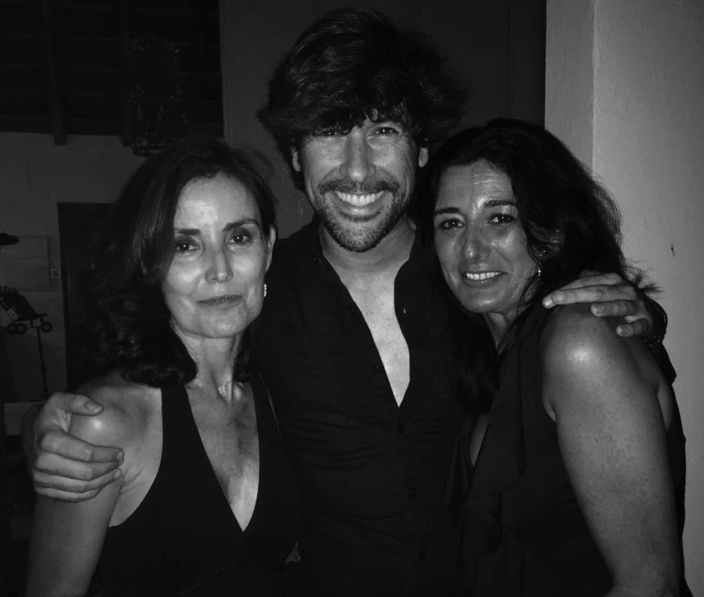 Con Lola y Ana